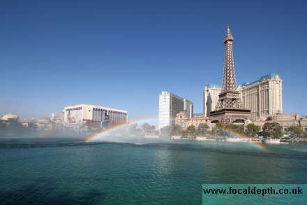 USA - Rainbow at the Belagio Las Vegas