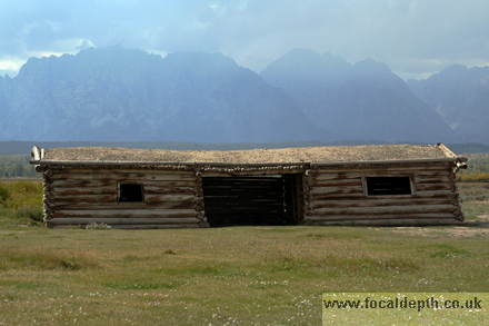 USA - Cunningham Cabin, Jackson Hole, Grand Teton National Park, Wyoming