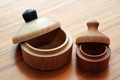 Technology - Turned wooden jars