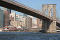 USA - Spanning the East River from Brooklyn to Manhattan, the Brooklyn Bridge, New York