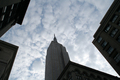 USA - An abstract view of a group of skyscrapers, including the Empire State Building, Manhattan, New York.