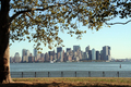 USA - View from Liberty Island across to Manhattan, New York