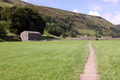 UK - Footpath across the hay meadow, from Muker to Keld