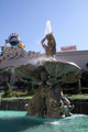USA - Fountain near Caesar's Palace with Harrah's in the background.